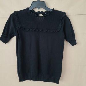 Black Vintage Sweater Top
